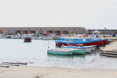 Small boats in the harbor Royalty Free Stock Photography