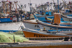 Small boats in the harbor Royalty Free Stock Photos