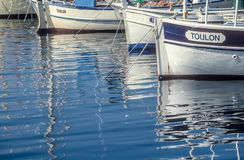 Small Boats in the harbor of Saint Tropez Royalty Free Stock Photos