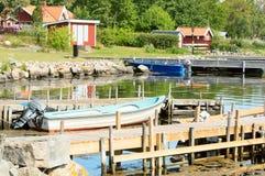 Small boats harbor Royalty Free Stock Image