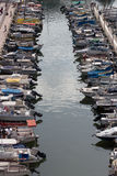 Small boats in Herzliya marina. Taken from Ritz hotel room Stock Image