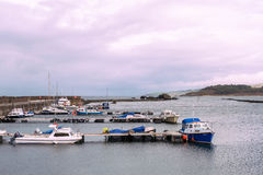 Small Boats in Maidens Harbour Near Girvan Scotland Royalty Free Stock Photography