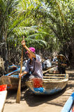 Small boats on Mekong River Delta Stock Photos