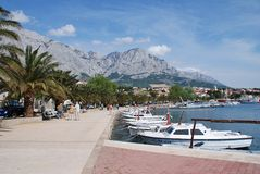 Baska Voda harbour, Croatia Royalty Free Stock Photo