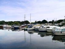 Small boats at moorings Royalty Free Stock Photography