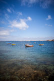 Small boats. A pack of small boats on the swedish coast Stock Images