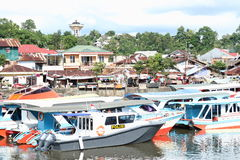 Small boats port in Manado Royalty Free Stock Photography