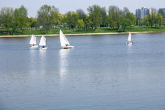 Small boats sailing Royalty Free Stock Photo