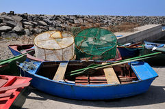Small boats of San Miguel del Tajao at Tenerife Stock Image