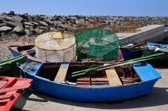 Small boats of San Miguel del Tajao at Tenerife Stock Image