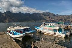 Small boats in San Pedro la Laguna Guatemala marina Royalty Free Stock Photo