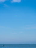 Small boats on the sea. And blue sky Royalty Free Stock Photo