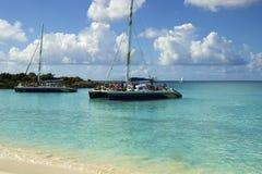Small boats in St Marten, Caribbean Royalty Free Stock Photos