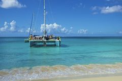 Small boats in St Marten, Caribbean Royalty Free Stock Images