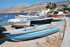Small boats, Symi island Royalty Free Stock Image