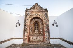 Small bone chapel. At the Se Cathedral (Cathedral of Faro) in the Old Town, Faro, Algarve, Portugal stock photos