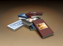 Small book heap Royalty Free Stock Photography