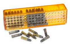 Small-bore gun cartridges stock photos