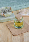Small bottle of cosmetic oil Royalty Free Stock Photos