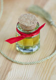 Small bottle of cosmetic oil Stock Image