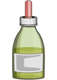 SMALL BOTTLE FOR MEDICINE. Capacity for liquid medicinal matters Royalty Free Stock Photos