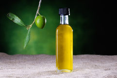 small bottle of olive oil Stock Photos