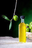 Small bottle of olive oil Royalty Free Stock Image