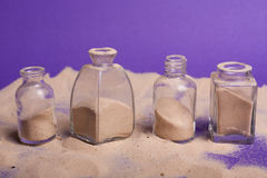 Small bottles with sand Royalty Free Stock Photo