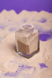 Small bottles with sand Royalty Free Stock Images
