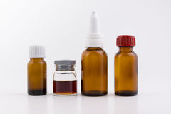 Small bottles Royalty Free Stock Photography