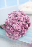 Small bouquet of chrysanthemums. Small bouquet of pink chrysanthemums shallow. tinted Royalty Free Stock Photo