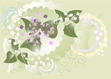 A small bouquet of flowers.Banner. Stock Photography