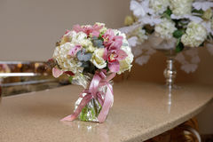 Small bouquet on the table Royalty Free Stock Photo