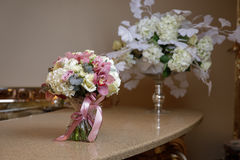 Small bouquet on the table Royalty Free Stock Photography