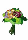 Small bouquet. Vector illustration of a bouquet of flowers, EPS 8 file Royalty Free Illustration