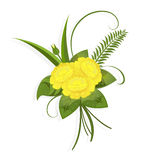 A small bouquet of yellow flowers Royalty Free Stock Photography