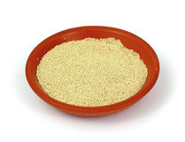 Small Bowl Active Dry Yeast Royalty Free Stock Image