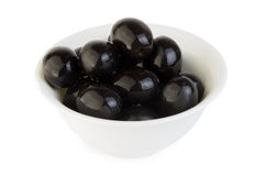 Small bowl with black olives Stock Photography