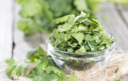 Small bowl with Coriander royalty free stock photography