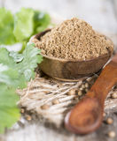 Small bowl with Coriander Powder Royalty Free Stock Image