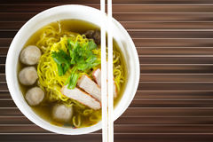 Small bowl of delicious noodles Stock Images