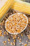 Small bowl with dried Sweetcorn Stock Photo