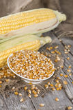 Small bowl with dried Sweetcorn Royalty Free Stock Photo