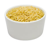 Small Bowl of Dry Brown Jasmine Rice Royalty Free Stock Photo