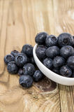 Small bowl filled with Blueberries Royalty Free Stock Photo
