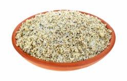 Small bowl filled with fajita seasoning Royalty Free Stock Photography