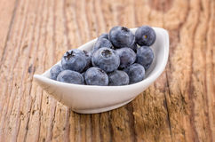 Bowl filled with fresh blueberries Stock Images