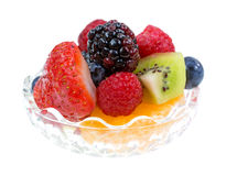 Small bowl filled with fresh fruit Stock Photography
