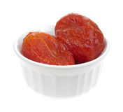 Small bowl filled with peeled ripe tomatoes Royalty Free Stock Images