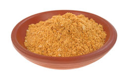 Small bowl filled with taco seasoning Stock Image